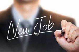 Person writing New Job